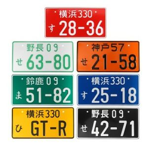 Universal Jdm Aluminum Japanese Car License Plate Tag Car Racing Drift 7 Colors