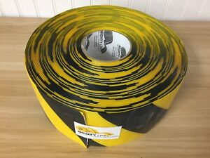 U line S 19125 4 x100 Yellow With Black Stripe Deluxe Safety Tape Free Shipping