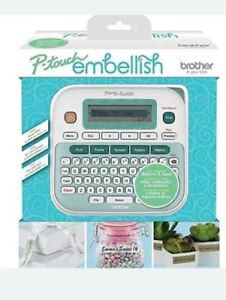 Brother P touch Embellish Ribbon Tape Label Printer Machine Ptd215e New