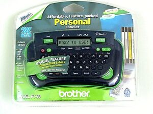 New Brother Model Pt 80 P touch Electronic Labeling System Nib