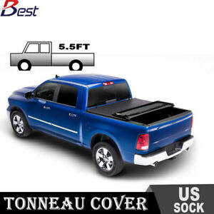 Newest For 2014 2018 Ford F150 5 5ft Vinyl Truck Bed Soft Tri Fold Tonneau Cover