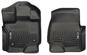 2017 19 Toyota Tacoma Front Floor Mats Husky Liners Weatherbeater Black 13971