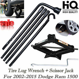 Spare Tire Lug Wrench 2t Scissor Jack Oem Tools Kit For 2002 15 Dodge Ram 1500