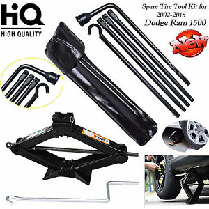 Tool Kit For 06 15 Dodge Ram 1500 Spare Tire Lug Wrench W Bag 2t Scissor Jack