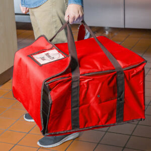 20 X 20 X 12 Red Heavy duty End Load Nylon Insulated Pizza Delivery Bag