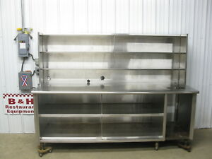 90 Stainless Steel Heavy Duty Kitchen Bakery Cabinet Table W Under Over Shelf