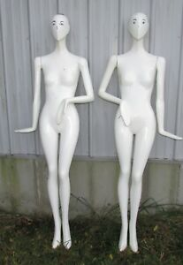 Life Size Modern Female Mannequin Glossy White
