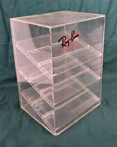 Rare Vintage Plexi Glass Ray Ban Sunglasses Store Display Case