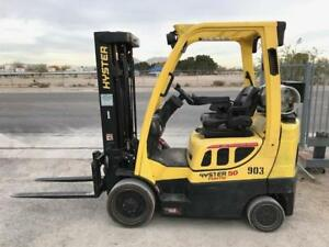 2014 Hyster Forklift S50ft 3 Stage Mast W Side Shift Lpg