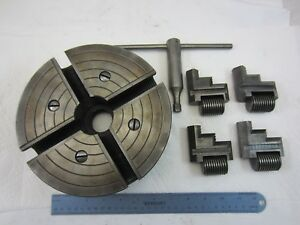 8 Craftsman 4 Independent Jaw Reversible Lathe Chuck 1 1 2 X 8 Tpi 111 21410