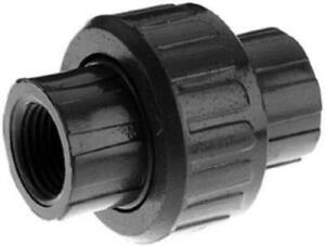 1 1 4 Gray Pvc Threaded Union Heavy Duty Schedule 80 With Rubber O r 4pk