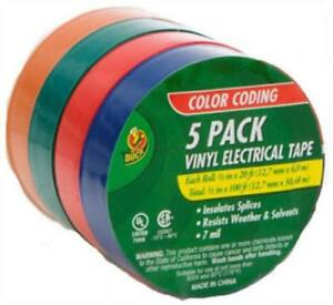Assorted Vinyl Electrical Tape 1 2 X 20 Red Blue White 4pk