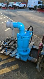 Gorman Rupp 4 Submersible Sewage Trash Pump 3 Phase 460 480v Tested Working
