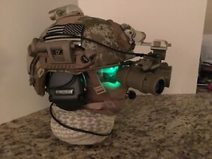 Airsoft Replica OpsCore FAST Helmet in AOR1 wReplica GPNVG-18 + Accessories