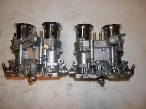 Vw Porsche Dellorto Drla 40 Carburetors With Velocity Stacks