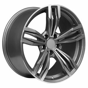 19 Staggered Machined Face Gunmetal Rims Fits 1 3 Bmw Series
