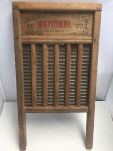 Antique Vintage National Washboard Co The Silver King 824 Primitive Rusted