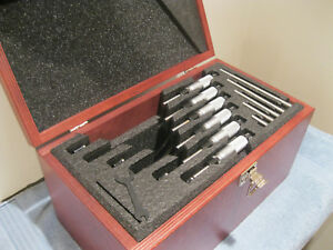 Starrett T436 1xrl Micrometer Set 0 6 Carbide 0001 Standards no Engravings