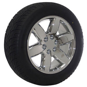 20 Inch Chevy Truck Suv Factory Oem Replica Chrome Wheel Tire Package