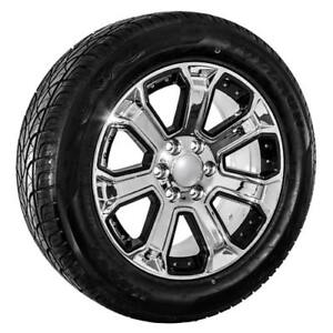 22 Inch Chrome Chevy Truck Silverado Tahoe Wheels Replica Rims And Tires 088