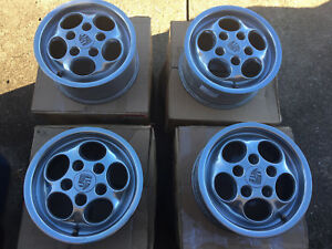Porsche Phone Dial Wheels Polished Rims 15x7 Set