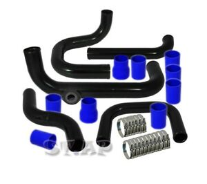 Civic Integra Bolt On Turbo Intercooler Piping Kit Black blue type rs Bov Flange