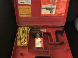 Hilti Dx350 Power Actuated Nail Gun W Case And Accessories Ramset Charges