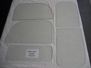 1946 1947 Ford Truck Glass Pick Up Glass Set With Front And Rear Seals