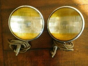 1940 1941 Buick Guide Bicolored Fog Lights Lamps Chevrolet Cadillac Olds Work
