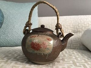 Antique Rare Chinese Teapot Kettle 8 5 In High Including Handle