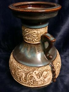Vintage Chinese Clawed Dragon Porcelain Drip Glaze Jar Bottle Vase