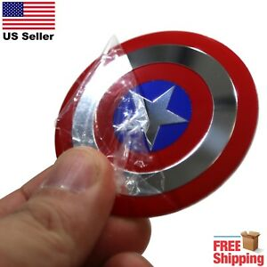 Dome Shape 3d Metal Captain America Shield Auto Sticker Decal Emblem 2 20