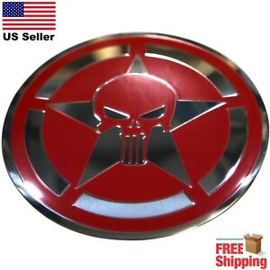 Dome Shape 3d Metal Captain American Punisher Skull Shield Sticker Decal 2 20