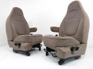 97 04 Ford F150 Expedition Front Seats Bronco Tan Bucket Seats With Armrests