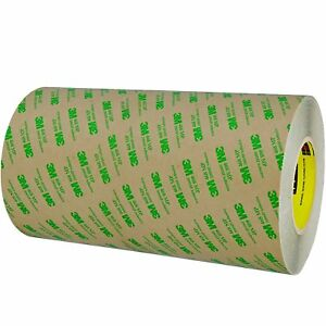 3m T96124681pk Clear 468mp Adhesive Transfer Tape Hand Rolls 12 X 60 Yd