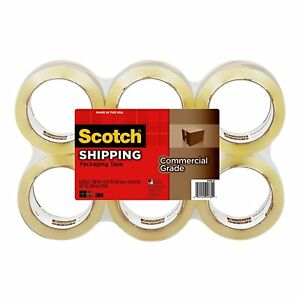 3750 6 Scotch Commercial Grade Packaging Tape 48mm X 50m 6 pkg