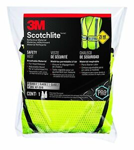 3m 94617 80030 Yellow Reflective Class 2 Construction Safety Vest