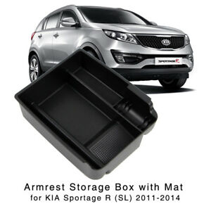Armrest Storage Box For Kia Sportage R 2011 2012 2013 2014 Central Console Tray