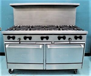 Sunfire 60 Commercial Range 10 Open Burners W Two Standard Ovens X60 10rr