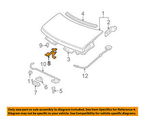 Gm Oem Hood safety Catch Latch Lock 15186174