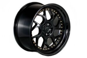 Aodhan Ds01 18x9 5 30 18x10 5 22 Gloss Black Staggered set Of 4