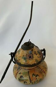 Antique Japanese Opium Pot Converted From An Original Vase