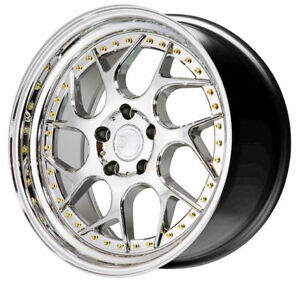 Aodhan Ds01 18x8 5 35 5x114 3 Vacuum Chrome Is300 Is250 Supra Rx7 Tl Civic Rsx