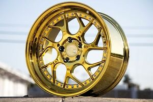 19x9 5 Aodhan 5x114 3 Ds1 15 Gold Vaccum Accord Evo Civic Camry Sonata Optima
