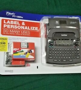 New Brother Pt 1890w P touch Label Maker Electronic Labeling System Brand New