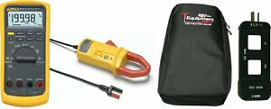 Fluke 87 5 Pro Kit 87 v Industrial True Rms Multimeter With I410 400a Ac dc Curr