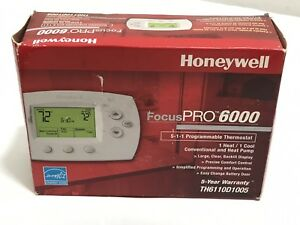 Honeywell Focus Pro 6000 Th6110d1005 Programmable Thermostat