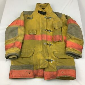 Firefighter Turnout Jacket Mens 44x35 R Yellow With Liner Janesville