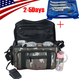 Pro Dental Turbine Unit Messenger Bag Air Compressor Syringe Free Handpiece Kit