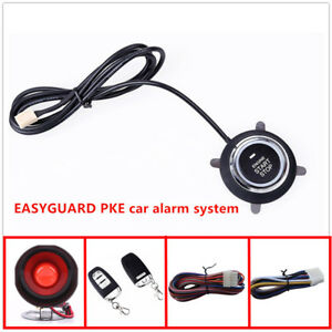Alarms Security Systems With Pke Passive Keyless Entry Fits For 95 Dc12v Cars